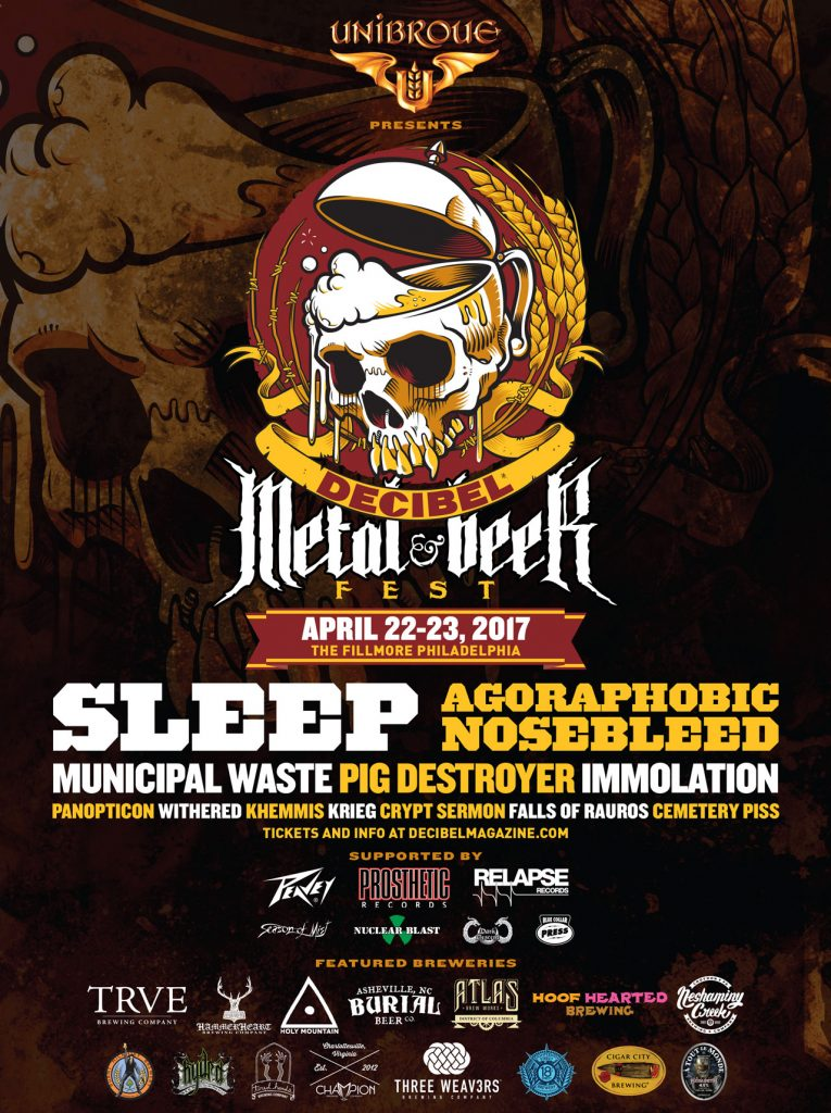 Peavey® on Tap as Sponsor of First Annual Decibel Metal & Beer Fest in Philly