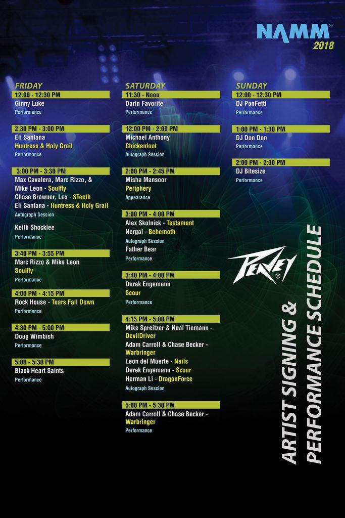Peavey Artist Schedule