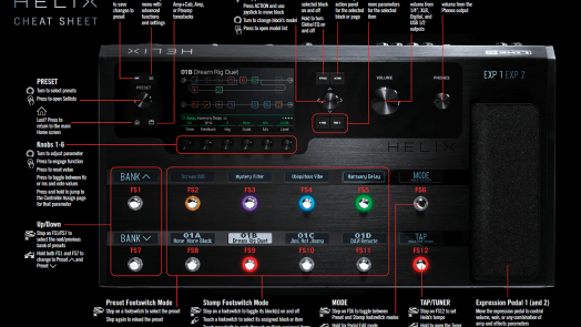 Cheat Sheet for Line 6 Helix