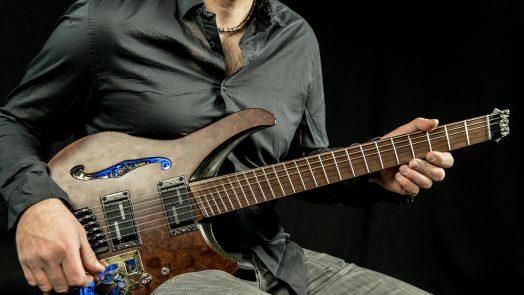Daedalus Steampunk Emerald Guitars