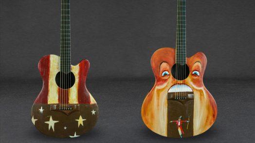 U2 Oliver Jeffers Emerald Guitars