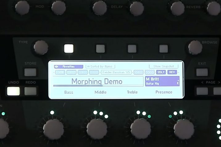 Kemper new morphing feature with Profiler OS 4.0