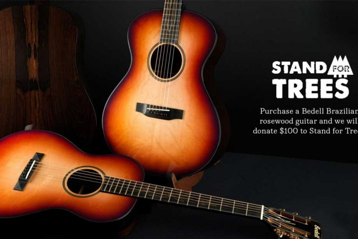 Bedell Guitars and Stand For Trees Protect Threatened Brazilian Rosewood Forest