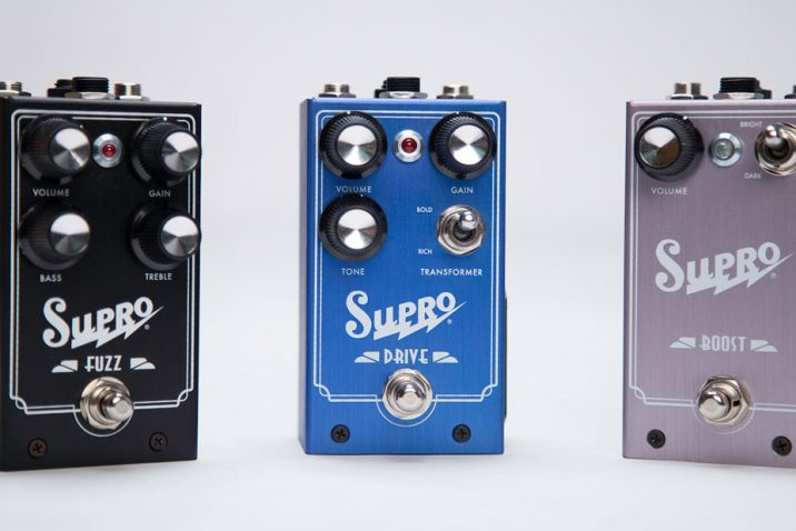 Supro Fuzz, Drive and Boost pedals NOW SHIPPING