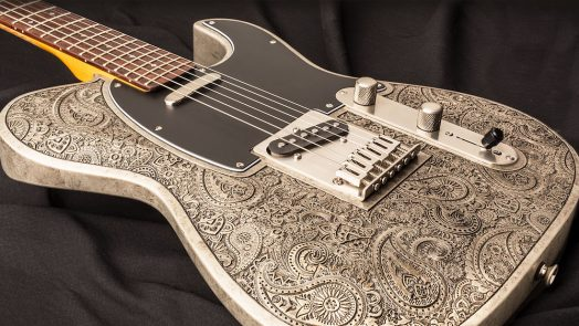 Dean Zelinsky Guitars Paisley Dellatera Guitar With Antiqued Metalized Finish