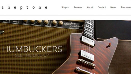 Sheptone Pickups Launches New Website