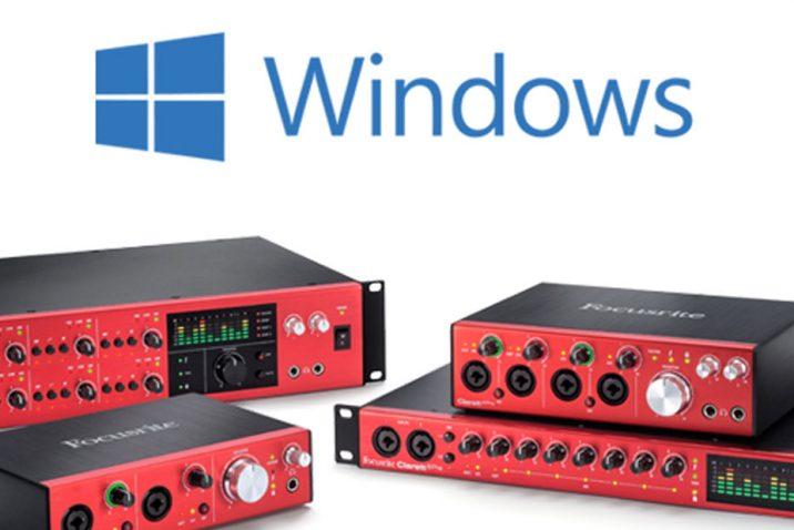 Focusrite announces Windows Thunderbolt driver for Clarett interfaces