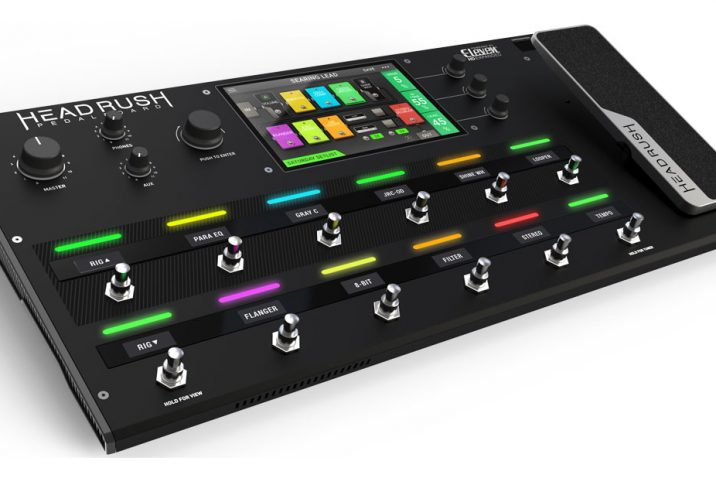 HeadRush Pedalboard - new guitar amp and FX modeling processor