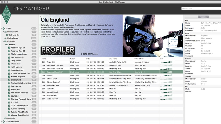 Kemper release new Rig Manager Software 2 0 introducing Rig