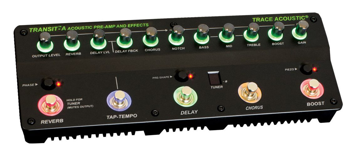 Trace Elliot® Unveils Transit™ A Preamp Pedal for Acoustic Guitars