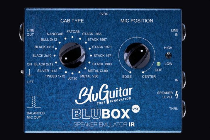 BluGuitar BluBOX Virtual Speaker Collection available at Dealers worldwide