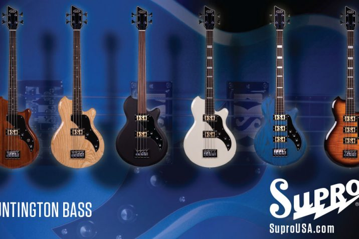 Supro launches the Huntington bass at Summer NAMM