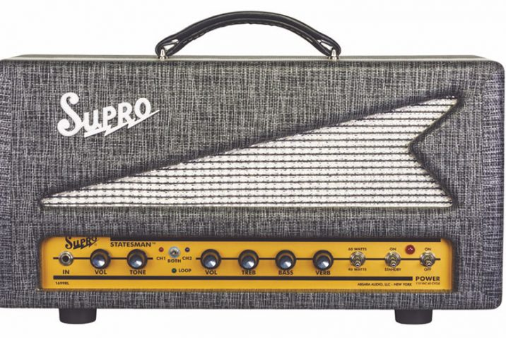 Supro release Statesman Head & Combo amplifiers