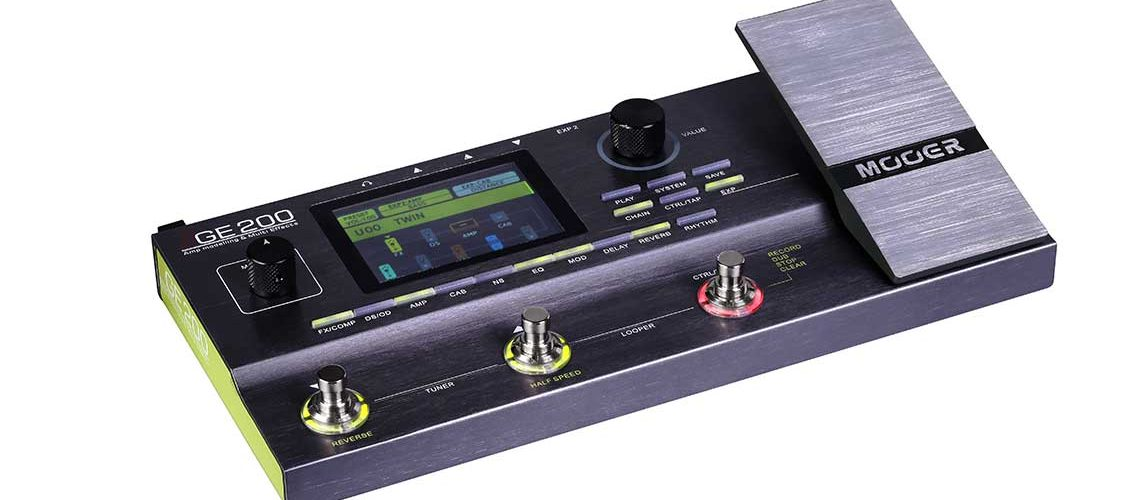MOOER GE200 Amp modelling and multi effects unit