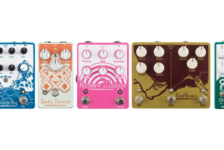 EarthQuaker Devices to Release Updates to Avalanche Run, the Depths, Hoof Reaper, Rainbow Machine, and Spatial Delivery