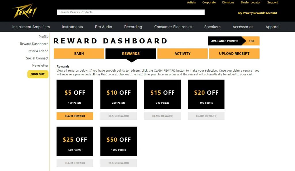 Rewards Dashboard