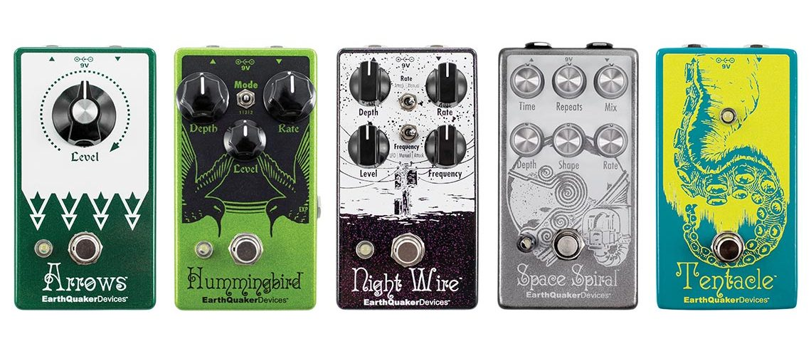 EarthQuaker Devices to Release Updates to Arrows, Hummingbird, Night Wire, Space Spiral, and Tentacle