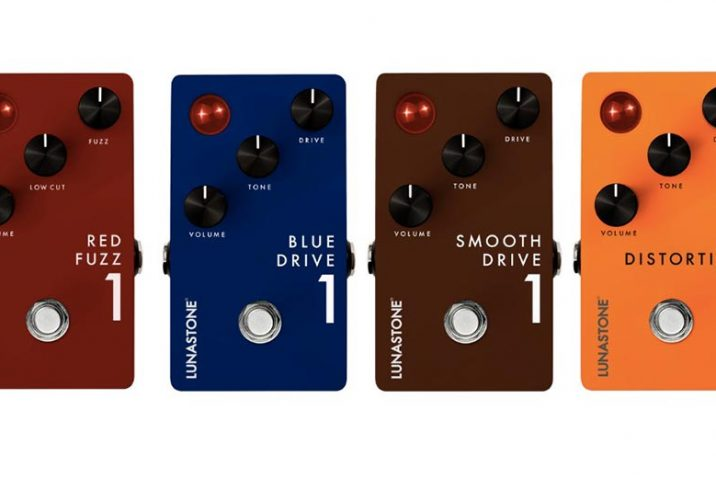 Lunastone Red Fuzz 1, Distortion 1, Blue Drive 1 and Smooth Drive 1 Now Shipping