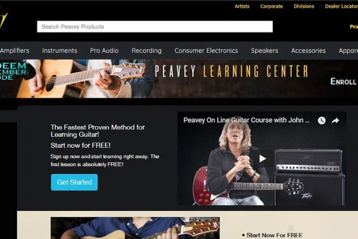 Peavey® Launches Interactive Guitar Lessons Online