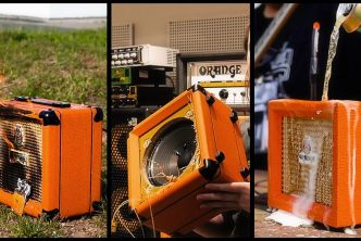 Orange Amplification Set Fire, Spill Beer, Drag and Drop Their Amps