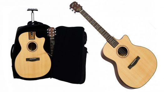 Journey travel guitars - Collapsible Guitar in a Carry-On Roller Bag