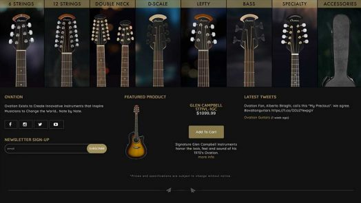 Ovationguitars.com Is Revised For 2019 And Beyond