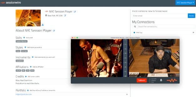 Sessionwire Social Media Platform for Musicians