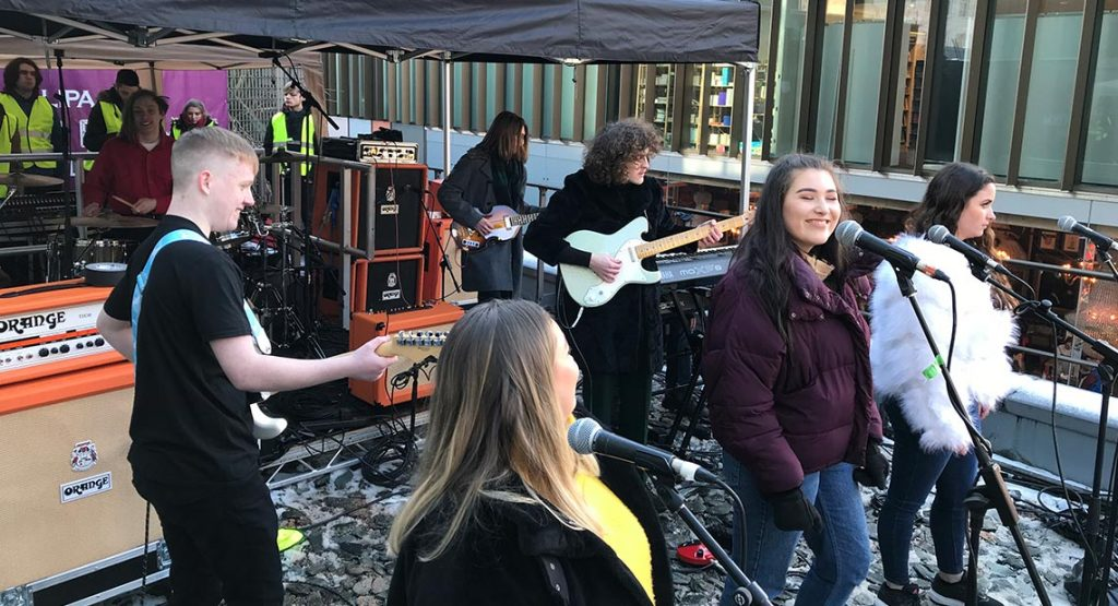 Recreation Of Iconic Beatles Rooftop Gig Uses Orange Amplification