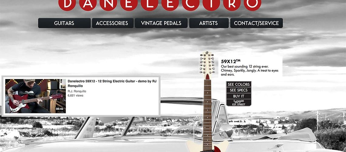Danelectro launches brand new website
