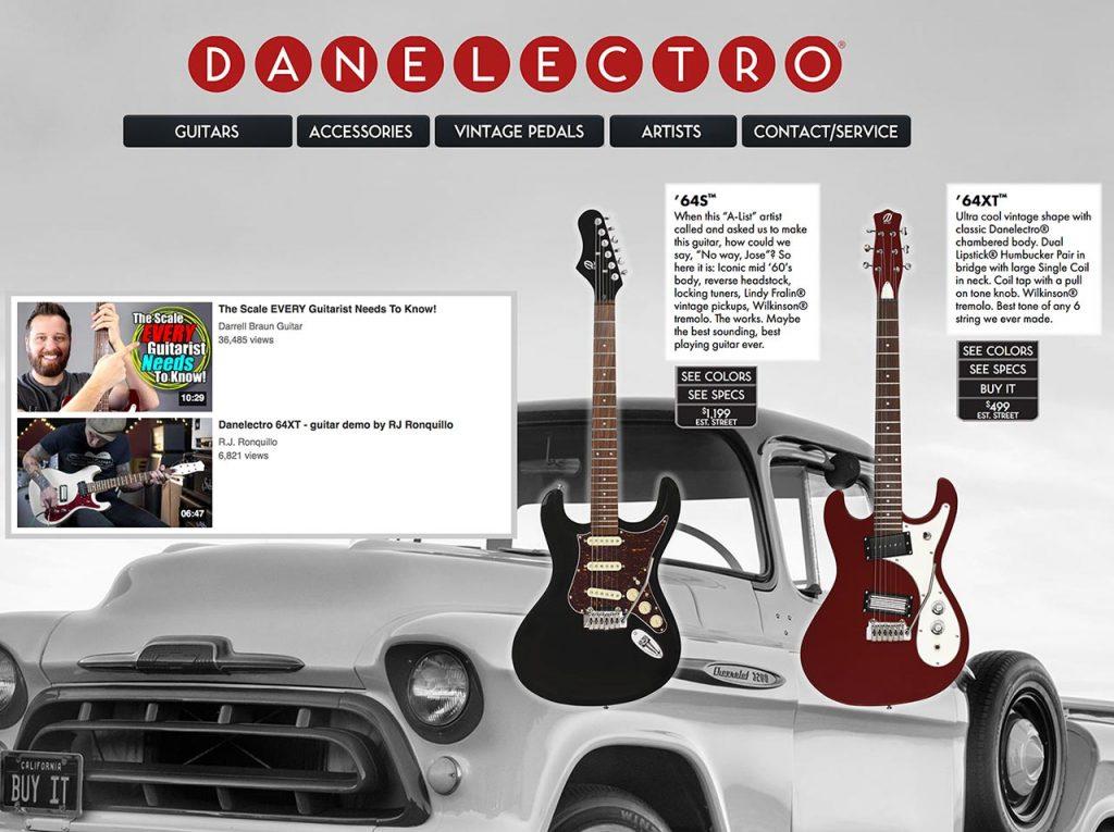 Danelectro website
