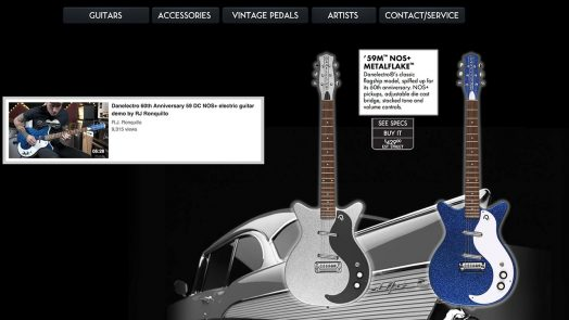 Danelectro new website