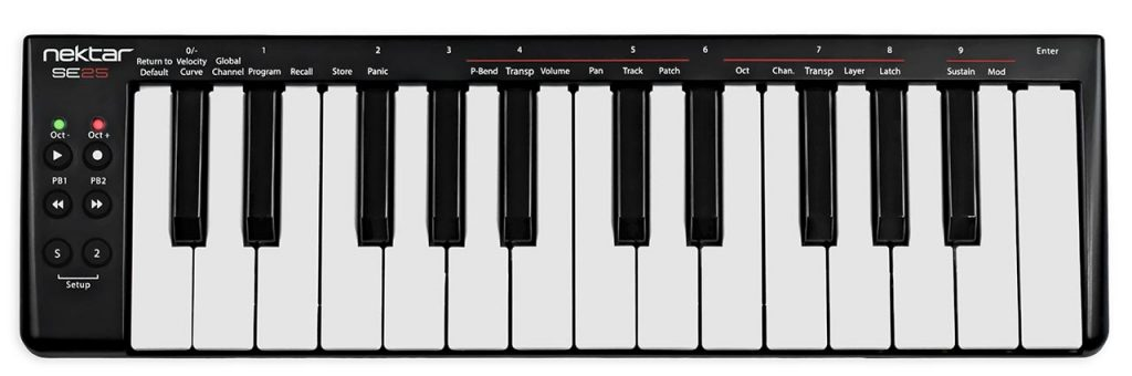 Nektar SE25 mini MIDI controller