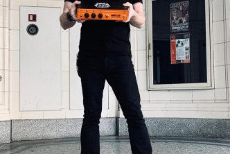Tom Bertsch (Jaded Mary) with his Pedal Baby 100
