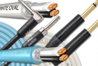 Analysis Plus Blue Suede Oval and White Oval Instrument Cables