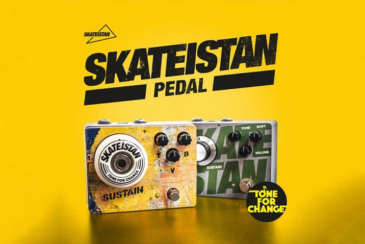 """The Founder Of KHDK Electronics Partners With Non-Profit """"Skateistan"""" To Introduce A Standout Fuzz Pedal Made From Repurposed Skateboards To Support Development Programs For Children"""