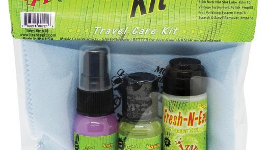 MP16 Travel Spit Kit: Polish, Fretboard Conditioner, Deluxe String Conditioner and Instrument Cloth
