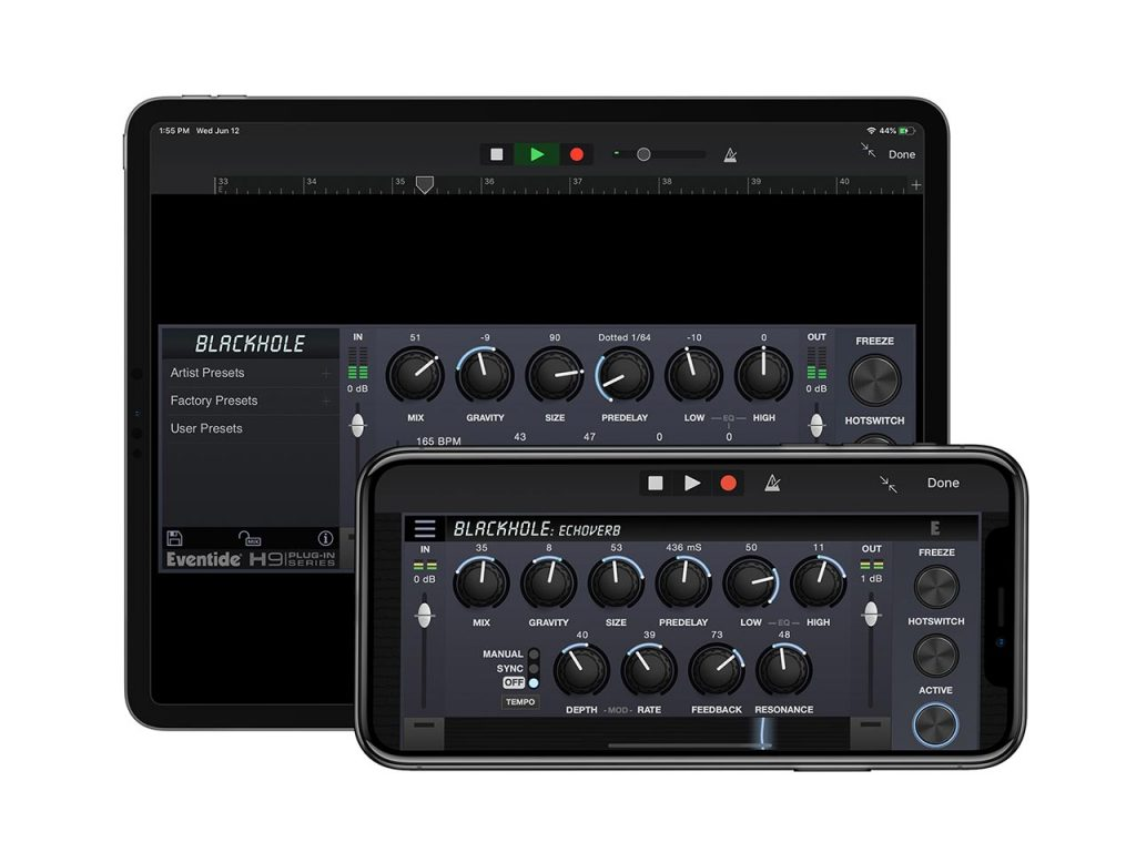 Blackhole Reverb for iPhone and iPad