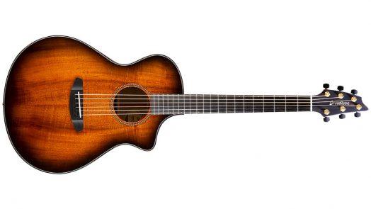 Breedlove Guitars Unveils New All Myrtlewood Oregon Series Bourbon Burst Acoustic Electric Models
