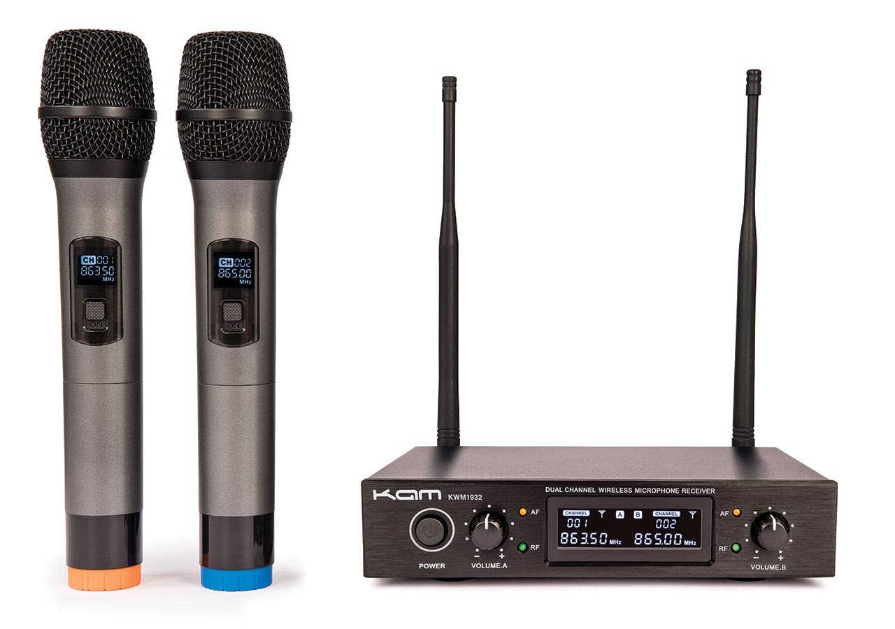 kam launch two new professional handheld kwm multi channel uhf wireless microphone systems. Black Bedroom Furniture Sets. Home Design Ideas