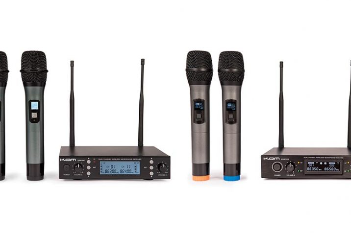 KAM launch two new professional handheld, KWM multi-channel UHF wireless microphone systems.