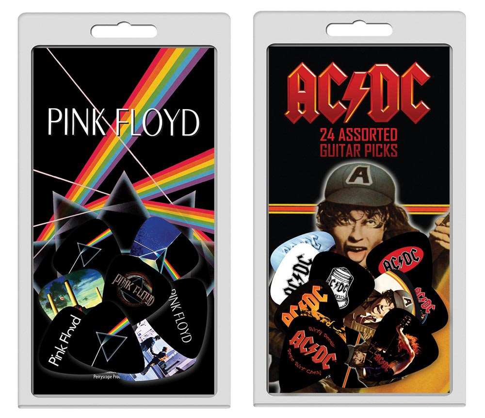 For ACDC and Pink Floyd fans there's also new mega assorted 24 pick packs priced at £20.99 rrp each.