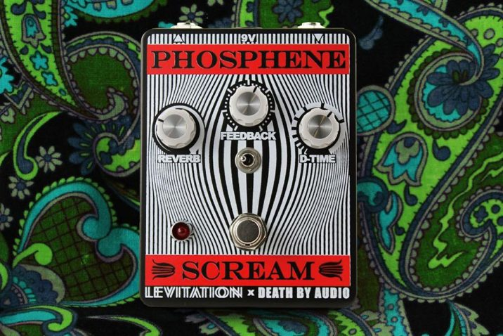 Death By Audio Effects Phosphene Scream Reverb & Delay Effects Pedal Limited-Edition