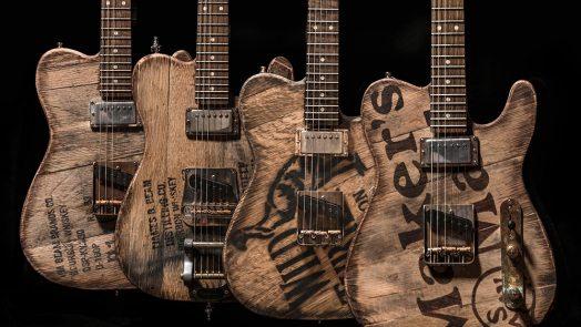 Big D Guitars Whiskey Barrel Top Custom T-Style Guitar