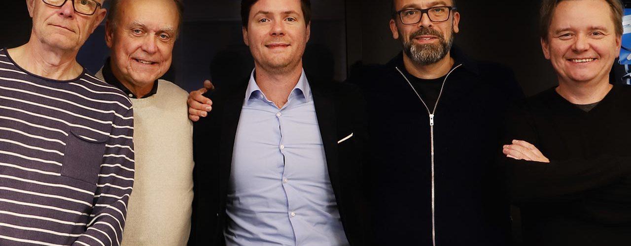 From left to right: Bengt Lilja, Int. Sales Director EBS, Bo Engberg, CEO at EBS, Benjamin Garnier, Managing Director Algam, Örjan Kylhammar, CEO Algam Nordic and Trond Sjøli, Sales & Marketing Director, Algam Nordic.