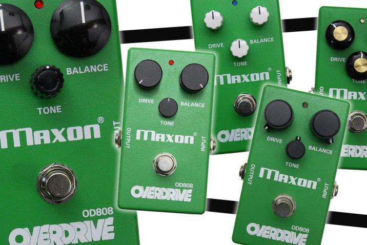 Maxon Introduces Limited Edition 40th Anniversary OD808 Overdrive Models