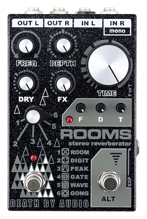 Death By Audio Effects Pedals ROOMS Stereo Reverberator
