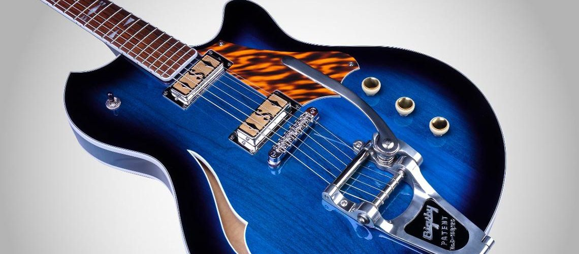 Supro launches Conquistador and Clermont semi-hollowbody,Bigsby equippedelectric guitar designs