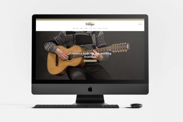 Vintage launch new dedicated website showcasing their full range of acoustic, electric and bass guitars
