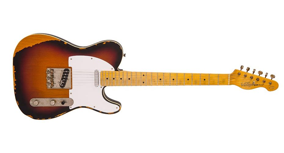 Vintage add V59 to popular ICON Series guitars with Distressed Black and Sunburst finishes