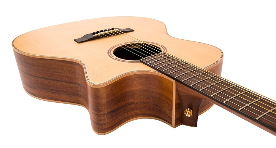 Vintage launch the 'Virtuoso' Rory Evans single cutaway, electro-acoustic guitar